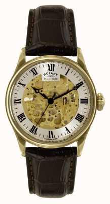 Rotary Мужская одежда, скелет, коричневая кожа GS02941/03