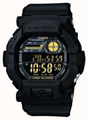 Casio G-shock вибрирующий 5 будильник черный желтый GD-350-1BER