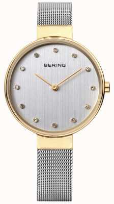 Bering Серебряный циферблат из нержавеющей стали из нержавеющей стали 12034-010