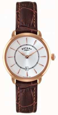 Rotary Женские коричневые кожаные ремешки LS02919/03