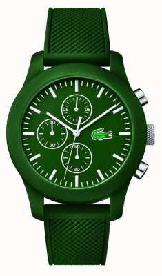 Lacoste Мужская 12,12 хроно зеленый резиновый ремешок зеленый циферблат 2010822