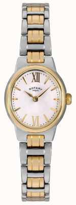 Rotary Женская двухцветный браслет белого набора LB02747/01