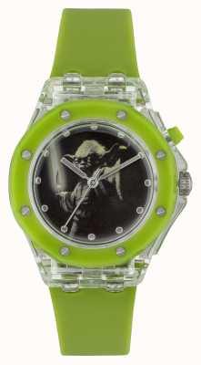 Star Wars Детский йода освещает зеленые часы YOD3702