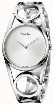 Calvin Klein Круглый серебряный циферблат из нержавеющей стали K5U2S146