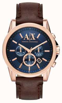 Armani Exchange Мужской темно-коричневый хронограф AX2508