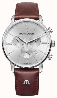 Maurice Lacroix Хронограф с кожаным ремешком для ремня Eliros EL1098-SS001-110-1
