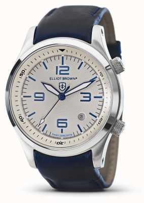 Elliot Brown Мужской кожаный белый циферблат canford blue 202-001-L06