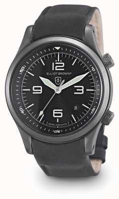 Elliot Brown Мужской черный кожаный черный циферблат canford 202-004-L10