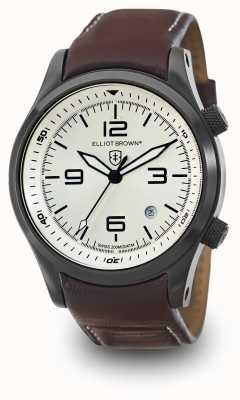 Elliot Brown Кожаный серебристый кожаный серебристый циферблат 202-009-L05