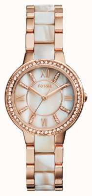 Fossil Женская виргиния розовое золото pvd ES3716