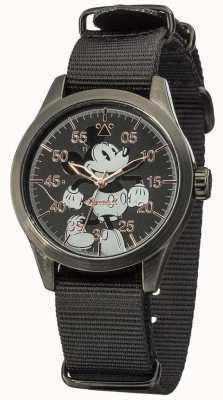 Disney By Ingersoll Часы для мыши Mickey с черным ремнем из нейлона DIN008BKBK