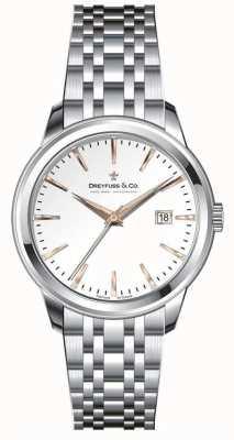 Dreyfuss Женский браслет из нержавеющей стали, серебряный циферблат DLB00125/06