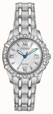 Citizen Эко-привод 28 бриллиантов из нержавеющей стали EW2360-51A