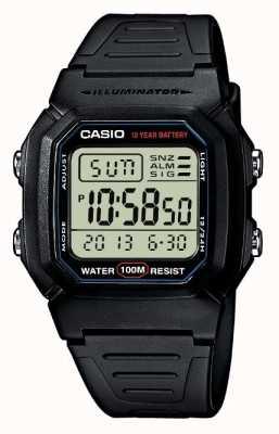 Casio Спортивный механизм сигнальный хронограф цифровой W-800H-1AVES