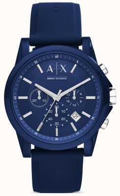 Armani Exchange Хронограф синий силикон AX1327