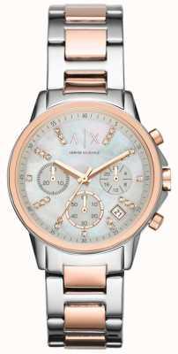 Armani Exchange Хронограф двухтональный браслет ремешок смотреть AX4331