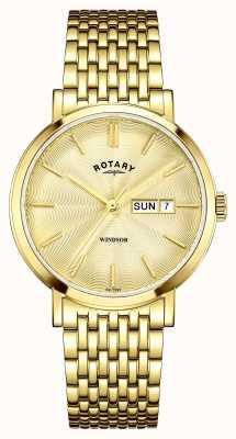 Rotary Мужская позолоченная золотая циферблат GB05303/03