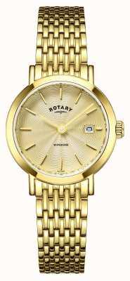 Rotary Женские часы Windsor позолоченные LB05303/03