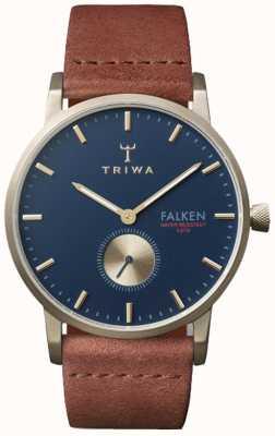 Triwa Коврик из темно-коричневого кожаного фалькена FAST104-CL010217