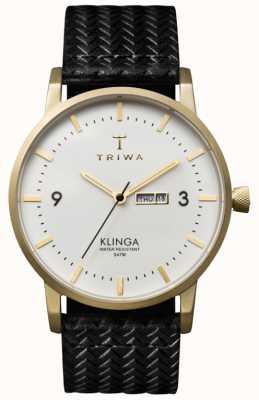 Triwa Мужская белая циферблатка с кожаным ремешком KLST103-GC010113