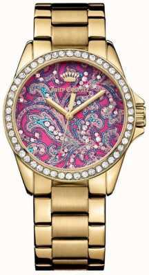 Juicy Couture Женщин золотой металл ремешок розовый шаблон набора 1901424
