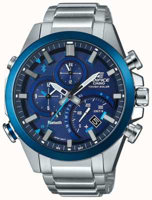 Casio Edifice bluetooth sync hard solar smartwatch синий EQB-501DB-2AMER