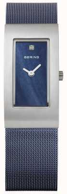 Bering Женская прямоугольная синяя шкала 10817-307