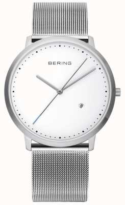Bering Серебряный ремешок из белого серебра 11139-004