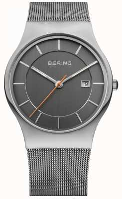 Bering Мужской серый серый серый циферблат 11938-007