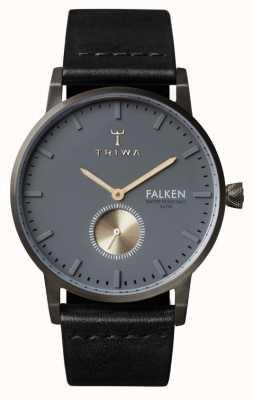 Triwa Мужской серый черный кожаный ремешок серый циферблат FAST102-CL010113