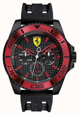 Scuderia Ferrari Мужской черный резиновый ремешок черный набрать красный деталь 0830310