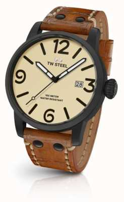 TW Steel Мужская коричневая кожаный ремень MS41