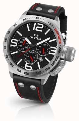 TW Steel Черный черный кожаный ремешок CS10