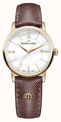 Maurice Lacroix Белый кожаный ремешок из белого набора Eliros EL1094-PVP01-111-1