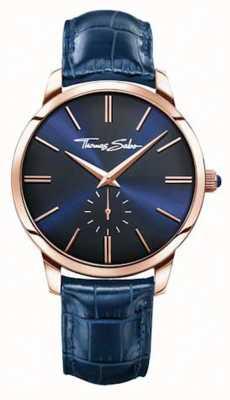 Thomas Sabo Мужской синий кожаный ремешок синий циферблат WA0212-270-209-42