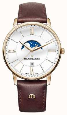Maurice Lacroix Мужской коричневый кожаный ремешок EL1108-PVP01-112-1