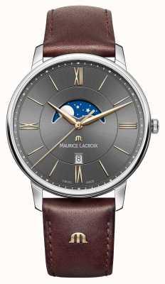 Maurice Lacroix Мужской коричневый кожаный ремешок EL1108-SS001-311-1