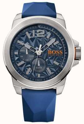 Hugo Boss Orange Мужской синий резиновый ремешок синий циферблат 1513348
