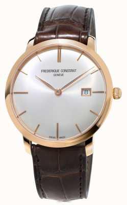 Frederique Constant Мужской тонкий автоматический коричневый кожаный ремешок FC-306V4S4