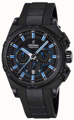 Festina Chronobike 2016 хронограф часы черный резина F16971/2