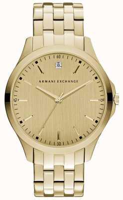 Armani Exchange Мужская гамптон гладкий золотой циферблат AX2167