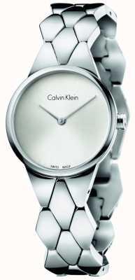 Calvin Klein Серебряный циферблат из нержавеющей стали K6E23146