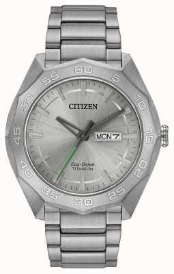 Citizen Серебряный циферблат серебра титана серебра AW0060-54A
