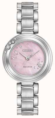 Citizen Женские эко-диски с шестью бриллиантами розовый набор wr50 EM0460-50N