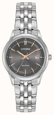 Citizen Женские часы из нержавеющей стали с сапфировым стеклом EW2400-58H