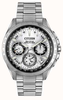 Citizen Mens eco-drive серебряная спутниковая волна f900 CC9010-74A