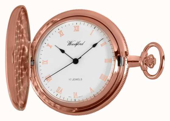 Woodford Полные охотничьи розовые золотые карманные часы 1091