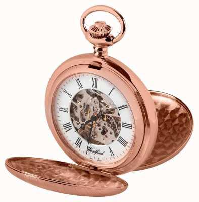 Woodford Двойной охотник розового золота карманные часы 1090