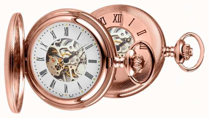 Woodford Розовые золотые карманные часы 1092