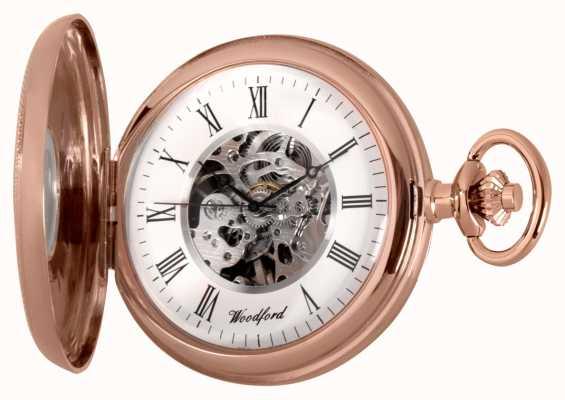Woodford | полуохотник | розовое золото | карманные часы | 1092